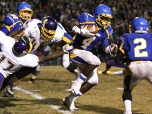 Garner advances to the 4-AA state championship game with a win over Jack Britt, 34-27.