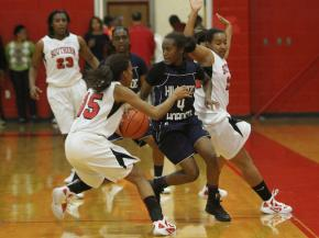 Hillside High School defeated Southern High School 59-58 on Friday, December 9. (photo by Will Okun)