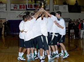 Ravenscroft defeats Wesleyan 53 to 44 to win the Summit Hospitality bracket during the 2011 HighSchoolOT.com Holiday Invitational Basketball tournament Friday December 30, 2011.