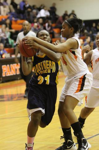 girls basketball northern vance vs orange jan 27 2012