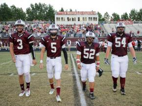 Wakefield Captains take the field. Wakefield rolls over Millbrook 54 to 21 Friday night September 21, 2012. (Photo by Jack Tarr)