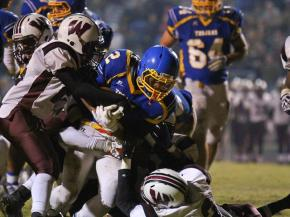 Nyheim Hines find some running room and gets in for the TD. Wakefield travels to Garner for Round 2 of play off action. Garner salms the door on Wakefileds hope with a 76 to 34 victory.  (Photo By: Chris Baird)