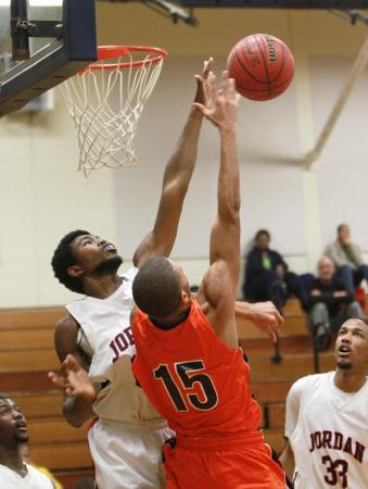 Jordan High School defeated Orange High School 47-46 on Friday, Dec. 7 (photo by Will Okun).