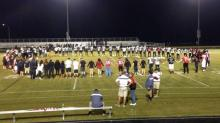 Prayer circle at Rolesville High School