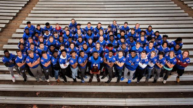 Wake Forest's 2016 NCHSAA 4AA state championship football team (Photo By: Suzie Wolf/HighSchoolOT.com)