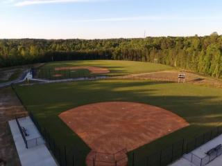 The baseball and softball fields are ready to go at the new Green Level High School in Cary. (Photo By: Nick Stevens/HighSchoolOT.com)