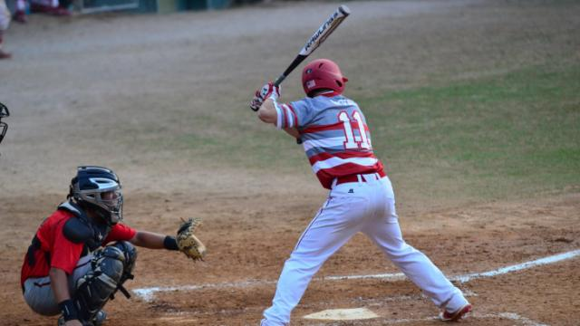 Walk Off For Sanderson. Two run score on a hit from Jeffers. Final score: 3-2.  Sanderson defeats Middle Creek to advance to Round 2 in the NCHSAA Tournament. (Photo By: Beth Jewell)