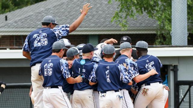 South Granville Vikings even the 2A championship series with a win in Game 2 over the East Rutherford Cavaliers, 9-3. Sunday June 5,  2016, Burlington, NC.  (Photo: Karl Fisher / WRAL contributor)