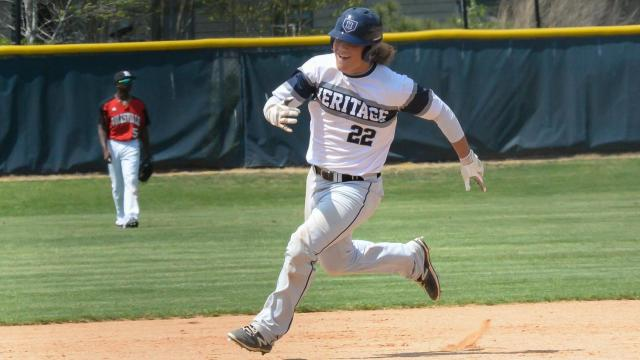 Heritage defeated Rolesville 12 to 7 in the Bobby Murray Chevrolet High School Baseball Invitational on Saturday, Apr. 15, 2017. (Photo By: Beth Jewell/HighSchoolOT.com)