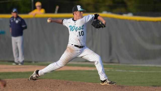 West Johnston ended the Bobby Murray Chevrolet High School Baseball Invitational with a 6-3 win over Millbrook on Saturday, Apr. 15, 2017. (Photo By: Nick Stevens/HighSchoolOT.com)