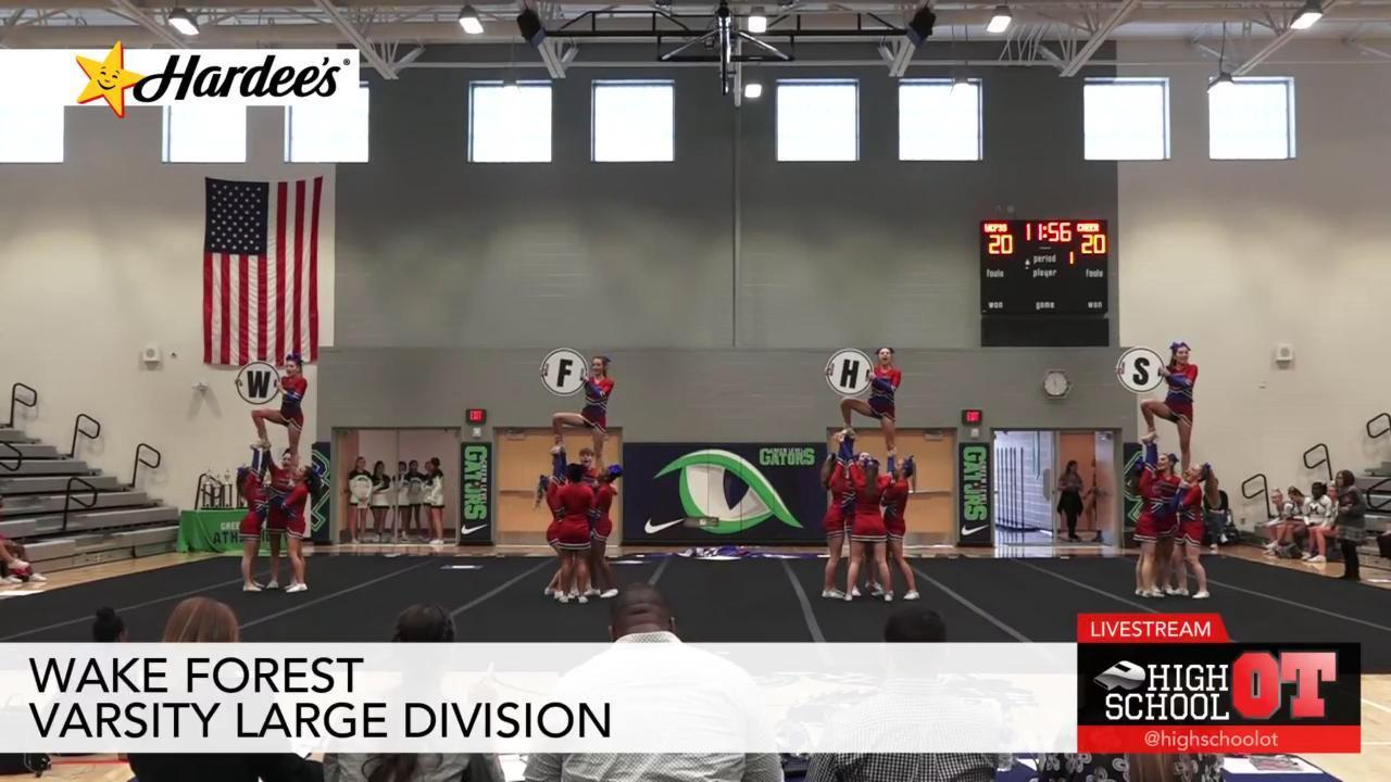 Wcpss Cheerleading Wake Forest Large Division Highschoolot Com