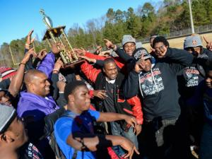 Southern Durham  2013 State Football Champions 3AA celebration.   (Photo by: Suzie Wolf/WRAL contributor)