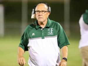 Head Coach David Green of Enloe. Visiting Person defeats Enloe, 32-14 in a non-conference game. Friday September 16,  2016, Raleigh, NC.  ( Photo: Karl Fisher / HighSchoolOT.com contributor)