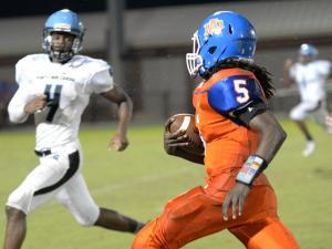Football: Panther Creek vs Athens Drive.