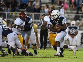 Colin Johnson (3) of Lee County High School.  Douglas Byrd High School traveled to Lee county High School for a rescheduled game on Monday October 3, 2016  Photo by:  Suzie Wolf