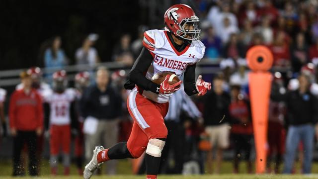 Trent Pennix (6) of Sanderson High School.  Sanderson High School travels to Millbrook High School with 2 weeks left in the regular season.  Millbrook could not stop the running game of Sanderson and lost 14 to 28.   Photo by:  Suzie Wolf