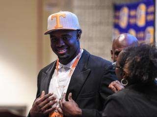 Matt Butler commits to University of Tennessee for his collage football career.     Photo by:  Suzie Wolf