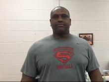 Southern Durham football head coach Darius Robinson