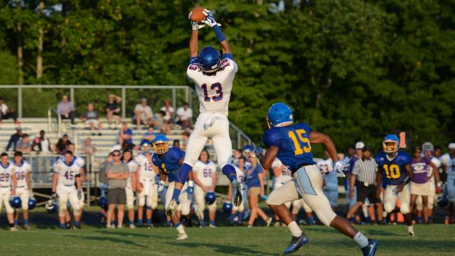 Holly Springs hosted a jamboree with Broughton, Fuquay-Varina, Garner, Northwood and Wake Forest on Wednesday, Aug. 9, 2017. (Photo By: Nick Stevens/HighSchoolOT.com)