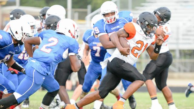 Trition High School hosted the Harnett County Jamboree on Thursday, August 10, 2017. (Photo By: Beth Jewell/HighSchoolOT.com)