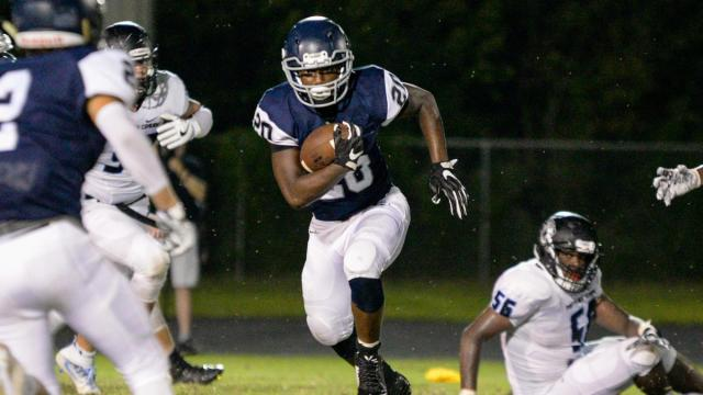 Heritage runs over Panther Creek 43 to 0 in Week 1 of the High School Football season on Friday, August 18, 2017. (Photo By: Beth Jewell/HighSchoolOT)