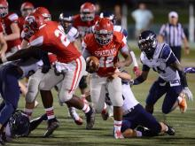 Football: East Forsyth vs. Sanderson (Aug. 19, 2017)