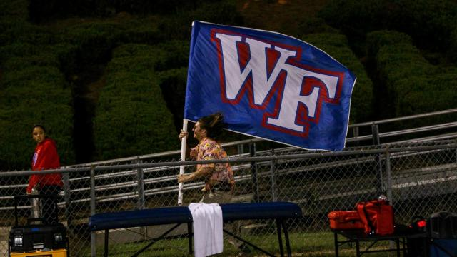 FAN CAM: Wake Forest rolls over Leesville Road 42-7 Friday night September 8, 2017 (Photo by Jack Tarr/HighSchoolOT.com)