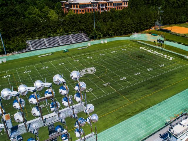 Take A Drone Tour Of Cardinal Gibbons Football Stadium
