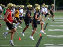 Cardinal Gibbons football practice (July 30, 2018)