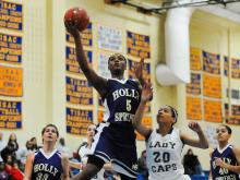 Images from Broughton's 62-60 victory over Holly Springs in the second game of the Mix 101.5 Girls Bracket in the HighSchoolOT.com Holiday Invitational.