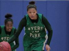 Images from Myers Park's 65-60 win over East Wake in the nightcap of Wednesday games in the Mix 101.5 Girls Bracket of the HighSchoolOT.com Holiday Invitational.