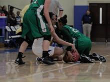 Images from Myers Park's overtime win over Dudley in the semifinal round of the Mix 101.5 Girls Bracket at the HighSchoolOT.com Holiday Invitational.