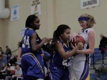 Images from East Wake's overtime victory over Cary Academy in the 7th place game of the Mix 101.5 Girls Bracket at the HighSchoolOT.com Holiday Invitational.
