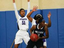 In a fierce battle of PAC-6 foes, Durham Riverside staged a fourth quarter rally and scored with 9 seconds left to down Durham Hillside 52-51 in the 7th place game of the Mix 101.5 Girls Bracket in the 2013 HighSchoolOT.com Holiday Invitational.