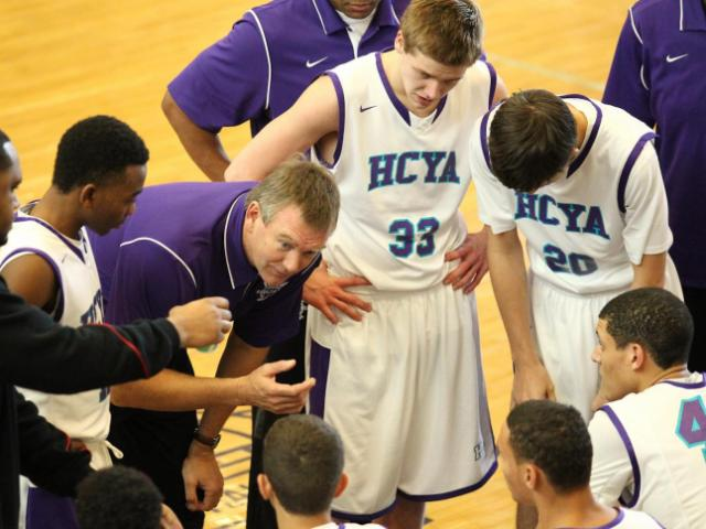 HCYA Time-out HighSchoolOT Holiday Invitational at Broughton High School, Raleigh N.C. held on December 28, 2013. The afternoon games featured W & M vs HCYA at 2:30. HCYA triumphs over W & M with a final score of 75 – 70. (Chris Baird/ WRAL Contributor)