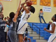 Girls Basketball: Riverside (Williamston) vs East Wake (Dec. 27,