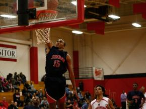 KJ Alston (15) goes up for a layup during the Jordan vs. Southern game on February 1, 2013 in Durham North Carolina