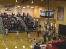 Nubian Spann shatters Panther Creek backboard (Jan. 10, 2014)