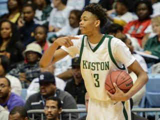 Brandon Ingram (13) of Kinston. Kinston became the first 2-A boys basketball team to win a fourth consecutive state championship with a 60-43 win over East Lincoln on Saturday, Mar. 14, 2015. (Photo By: Nick Stevens/HighSchoolOT.com)