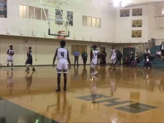 Moses Wright three-quarter court shot