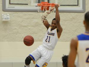 Trayvon Ferrell (21) of Garner. Garner advances to the Greater Neuse River Conference championship game with a 99-69 win over Clayton on Tuesday, Feb. 14, 2017. (Photo By: Nick Stevens/HighSchoolOT.com)