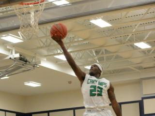 Donte Tatum (23) of Cary High School. Cary High School held off Middle Creek High School in the second round of the SWAC boys basketball conference tournament 80 to 69 on Wednesday, February 15, 2017. (Photo By: Beth Jewell/HighSchoolOT.com)