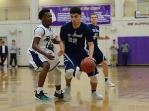 Chase Fowler (22) of Millbrook. Millbrook defeated Leesville Road 77-72 in the Cap 8 tournament semifinals on Thursday, Feb. 16, 2017. (Photo By: Nick Stevens/HighSchoolOT.com)