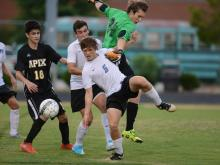 Boys Soccer: Apex vs. Panther Creek (Aug. 23, 2017)