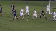 Broughton's Scott Rostick assists John White on corner kick