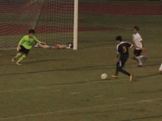 Maykel Lopez scores off cross for Northern Durham