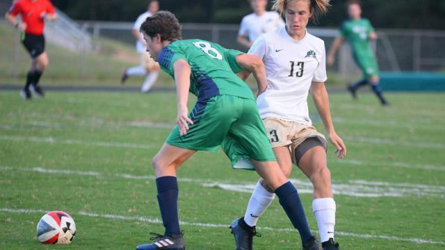 7300e3fdc Leo Oliveira (8) of Leesville Road. Cardinal Gibbons defeated Leesville  Raod 1 to