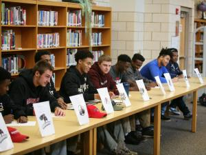 Thirteen senior student-athletes signed National Letters of Intent Thursday at Middle Creek.
