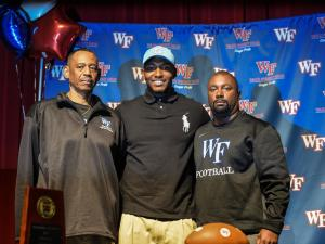 Xach Gill Press Conference - Wake Forest High School, December 1