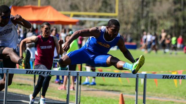 2014 Wake County Track & Field Championship at Athens High School, Raleigh North Carolina.  (Photo by: Suzie Wolf/WRAL contributor)